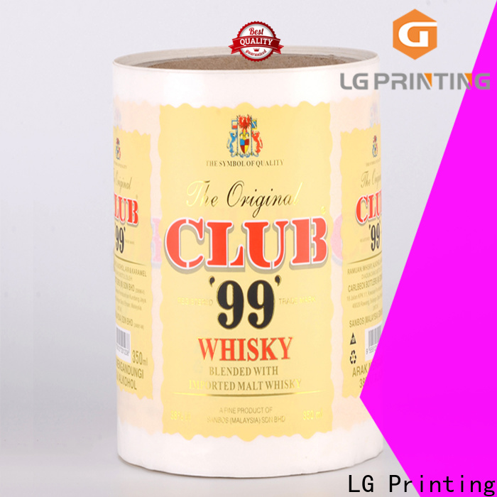 High-quality adhesive transparent paper foil factory price for bottle