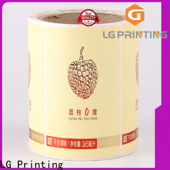LG Printing silver vinyl adhesive labels factory price for cans