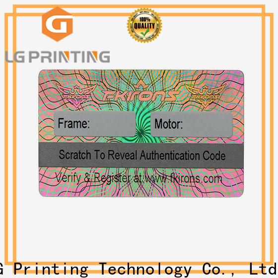 Top transparent hologram sticker scratched suppliers for garment hangtag