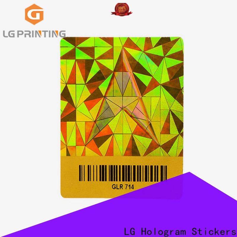 LG Printing selfadhesive hologram sticker with qr code manufacturers for electronics