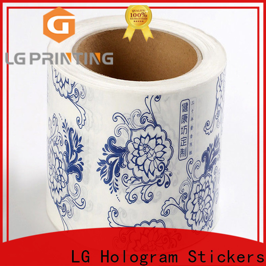 Top waterproof sticker printing paper red company for cans