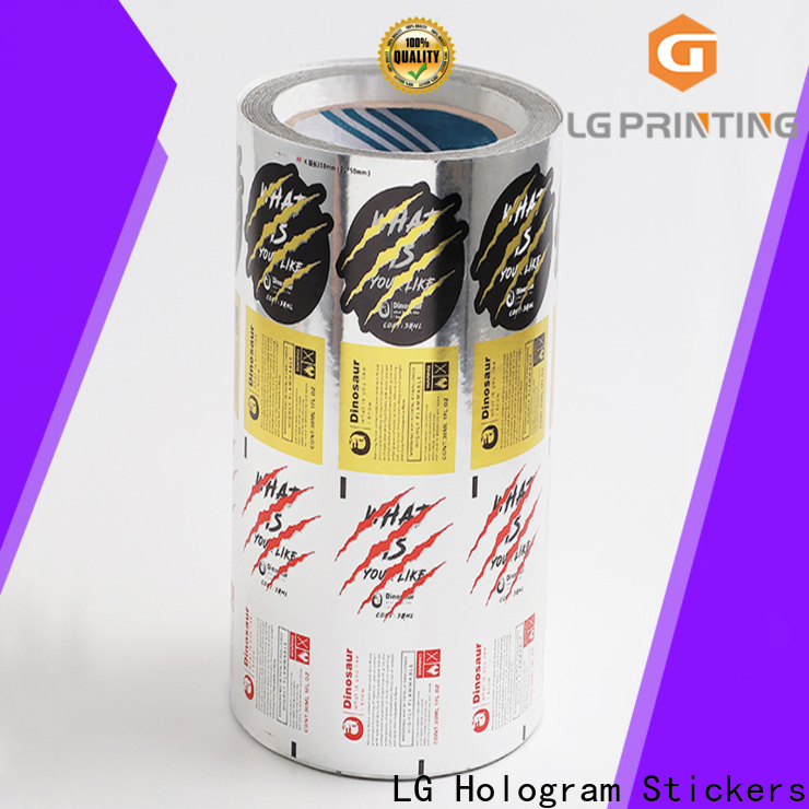 Custom made adhesive stickers labels pvc suppliers for bottle