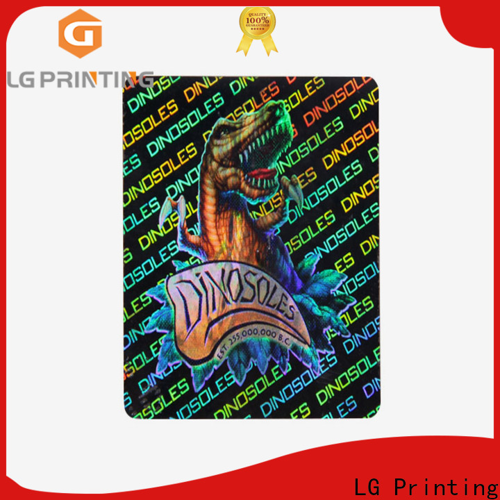 LG Printing barcode round hologram stickers suppliers for electronics
