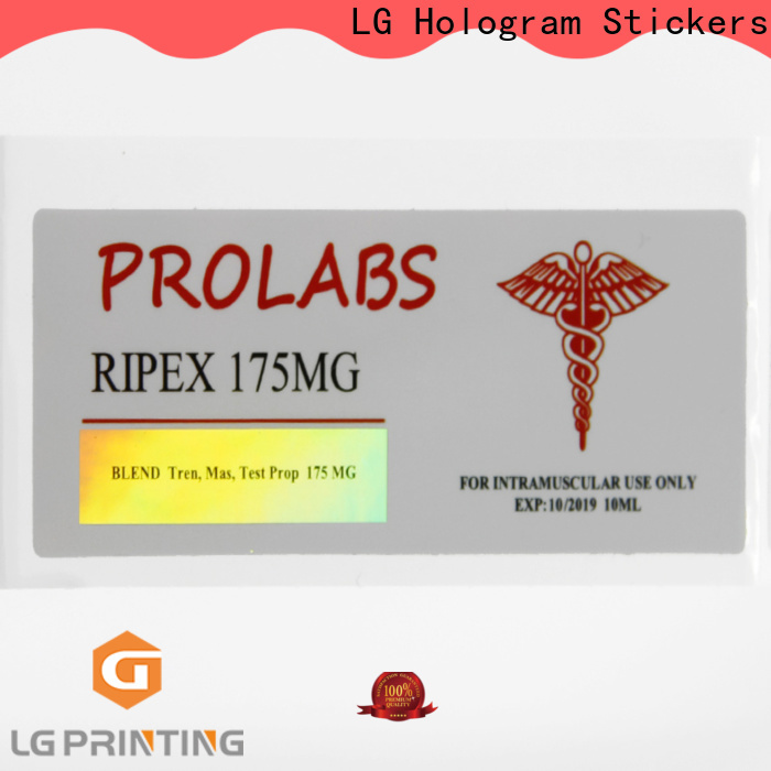 LG Printing Bulk holographic overlay stickers company for bottle package