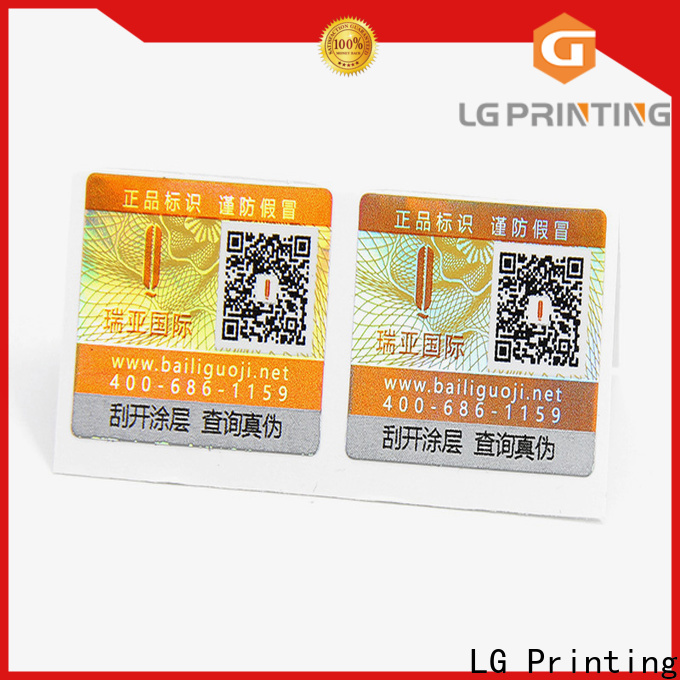 LG Printing self adhesive printed label factory manufacturers for goods