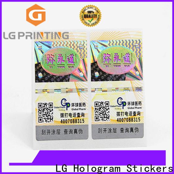 LG Printing Custom made anti counterfeit packaging factory