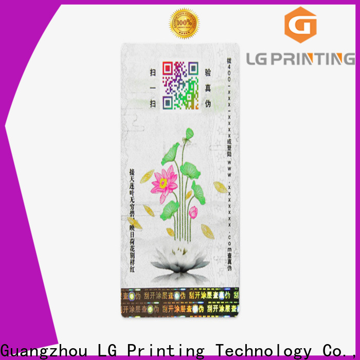 LG Printing Professional self adhesive labels for bottles supply for bottles