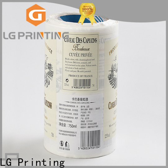 Professional self adhesive label gold price for bottle