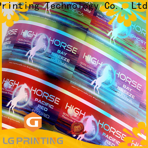Custom transparent holographic stickers for package