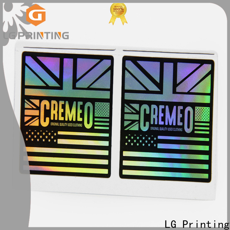 Professional holographic sticker maker cost for package