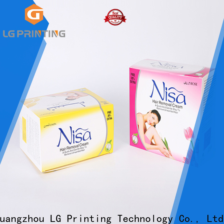 LG Printing custom cosmetic packaging boxes supply for retail package