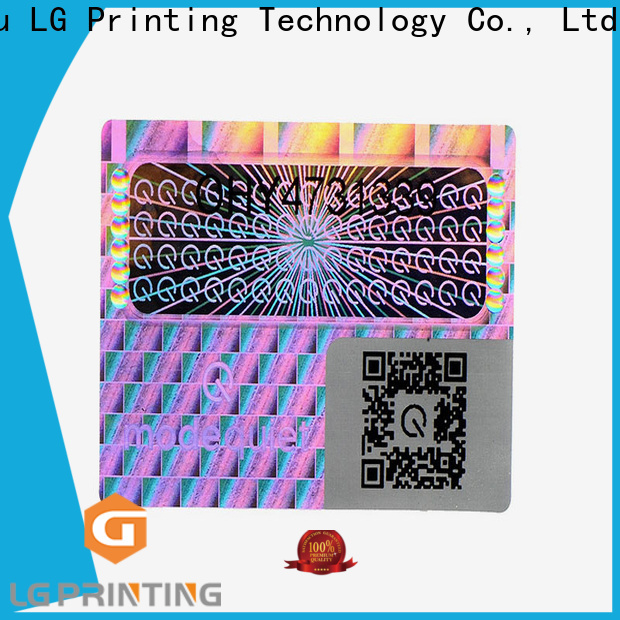 LG Printing security void stickers vendor for skin care products