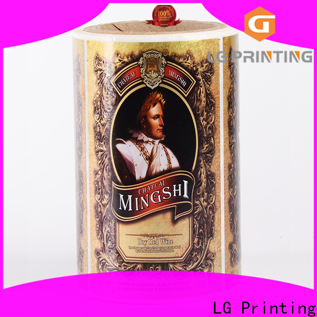 LG Printing red vinyl stickers for bottles suppliers for wine bottle
