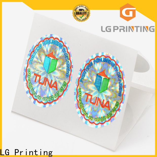 LG Printing silver computer security stickers cost for cosmetics