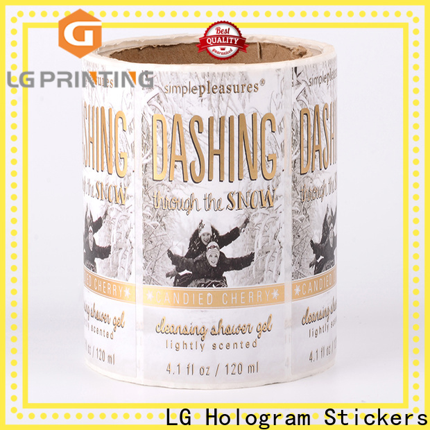 LG Printing Custom made custom stickers cheap bulk factory price for jars