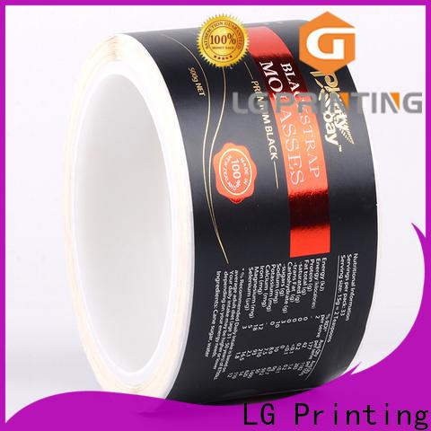 LG Printing foil water bottle label paper price for bottle