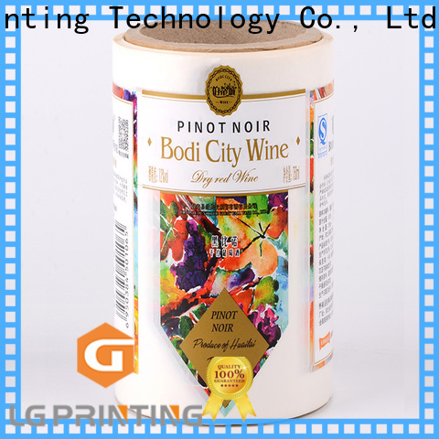 LG Printing gold self adhesive sticker paper suppliers for bottle