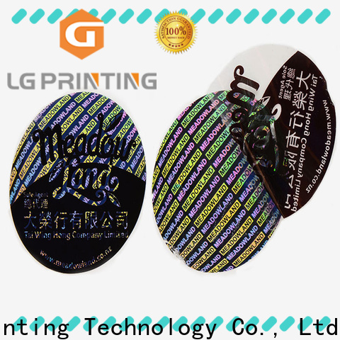 LG Printing selfadhesive tech company stickers wholesale for skin care products