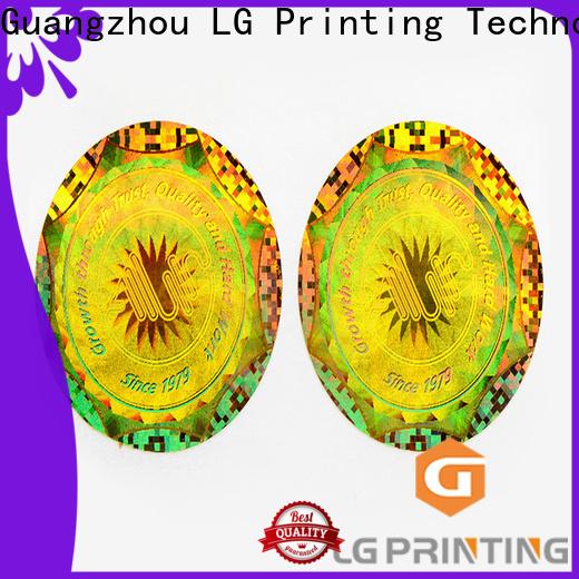 LG Printing Bulk buy gold foil transparent sticker factory price for electronics
