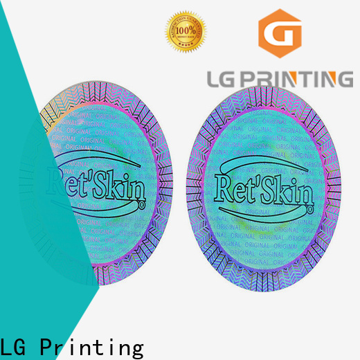 LG Printing Buy hologram overlay stickers cost for garment hangtag