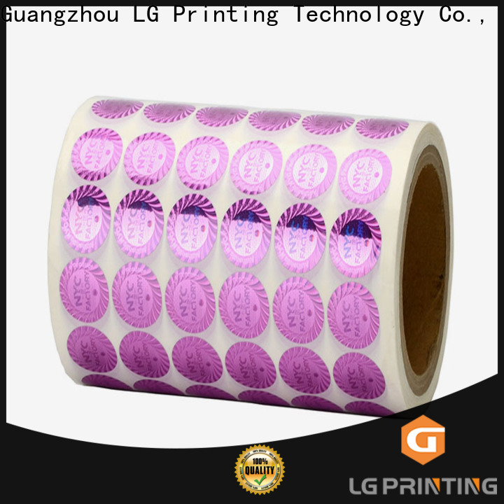 Buy foil serial number stickers holographic factory price for pharmaceuticals