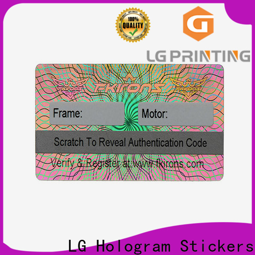 Professional wholesale hologram sticker printing bar factory price for electronics