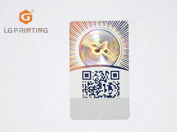 Flip-flop holgoram sticker with verification system