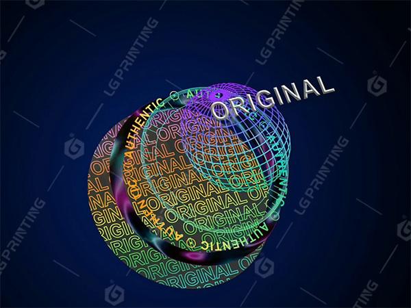 Stock for original round hologram sticker
