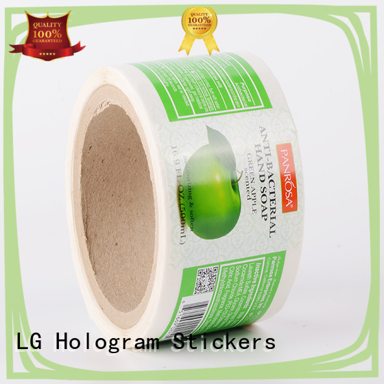 LG Printing printing vinyl stickers for glass bottles pvc for jars