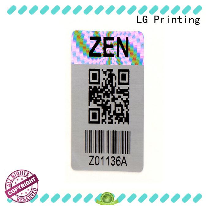 LG Printing various hologram stickers manufacturer for refrigerator
