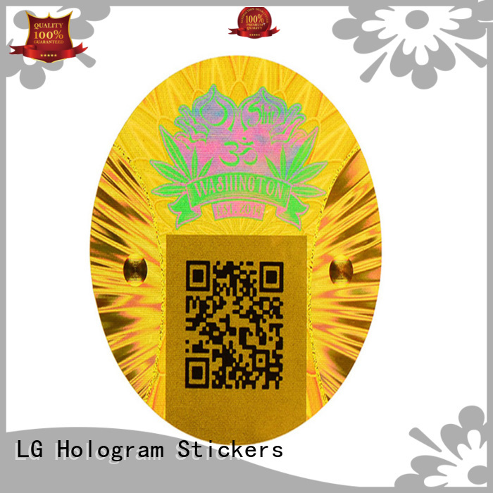 LG Printing authentic custom hologram label for refrigerator