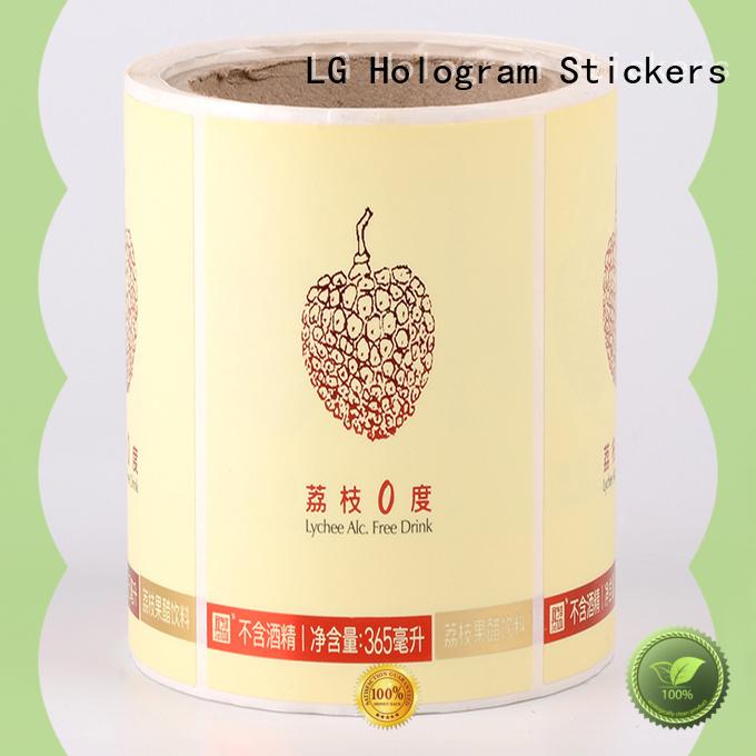 LG Printing foil packaging wholesalers supplier for wine bottle