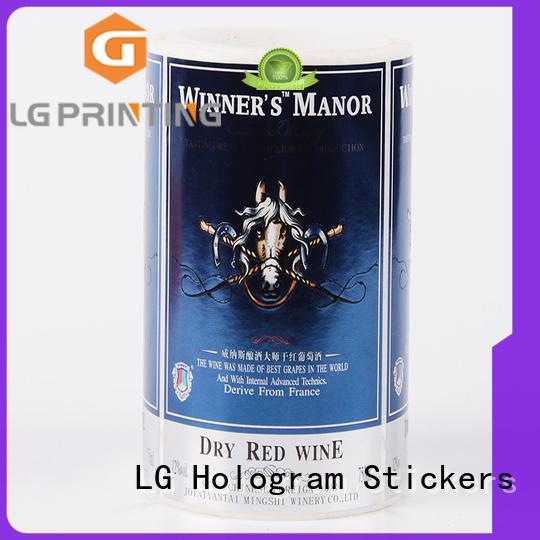 LG Printing gold vinyl labels series for bottle