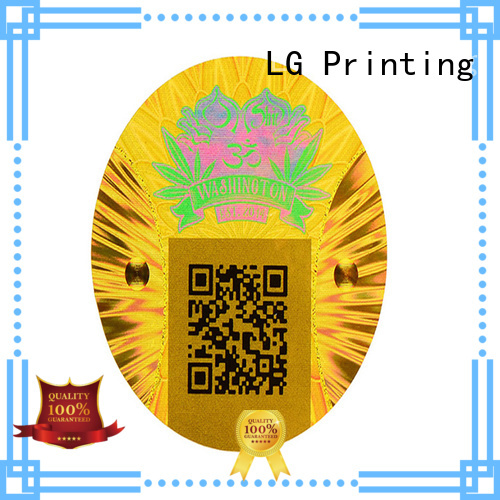 LG Printing silver wholesale sticker printing supplier for box