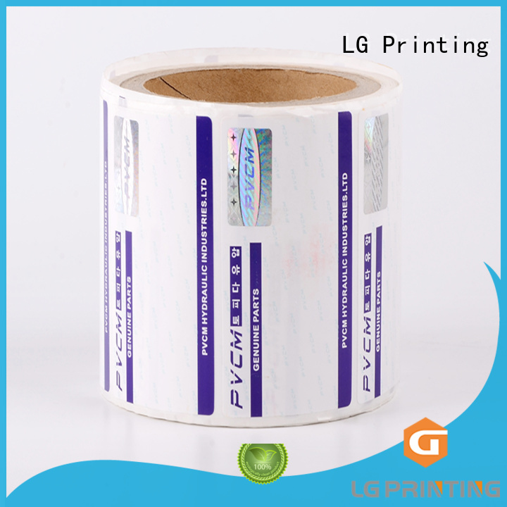 anti counterfeit label fake for goods LG Printing
