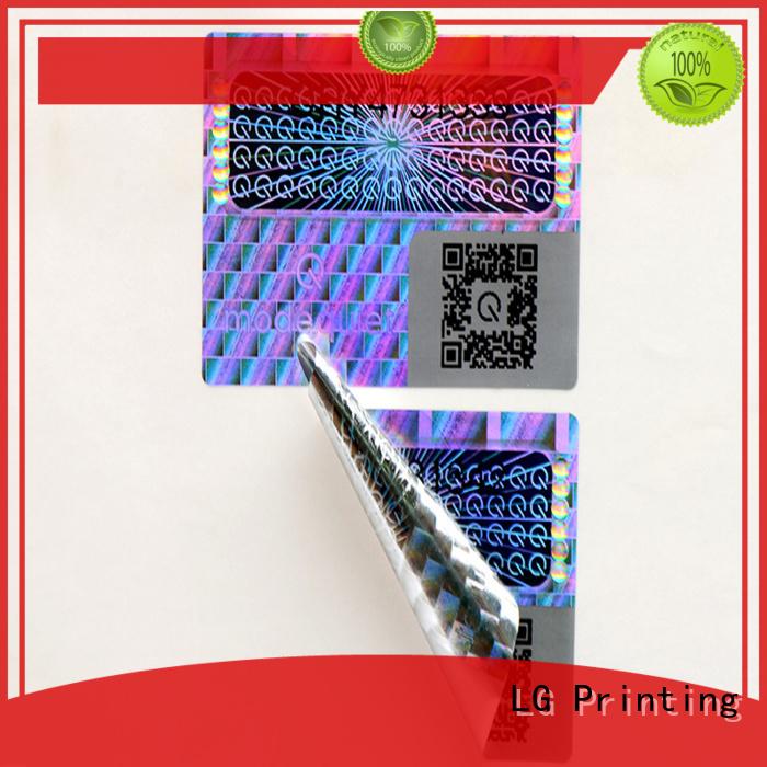 Hot 3d hologram sticker printing LG Printing Brand