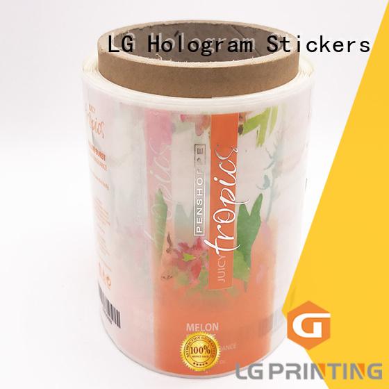 foil transparent paper adhesive labels LG Printing Brand company