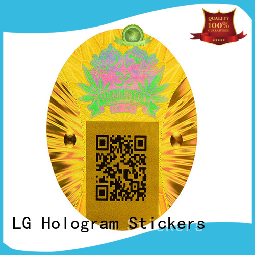 LG Printing void security hologram label for box