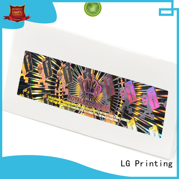 LG Printing round laser hologram supplier for table