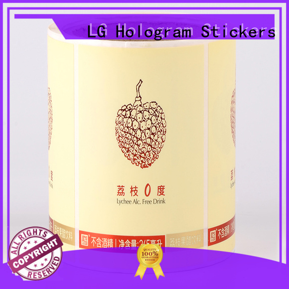 LG Printing bopp custom product labels supplier for wine bottle