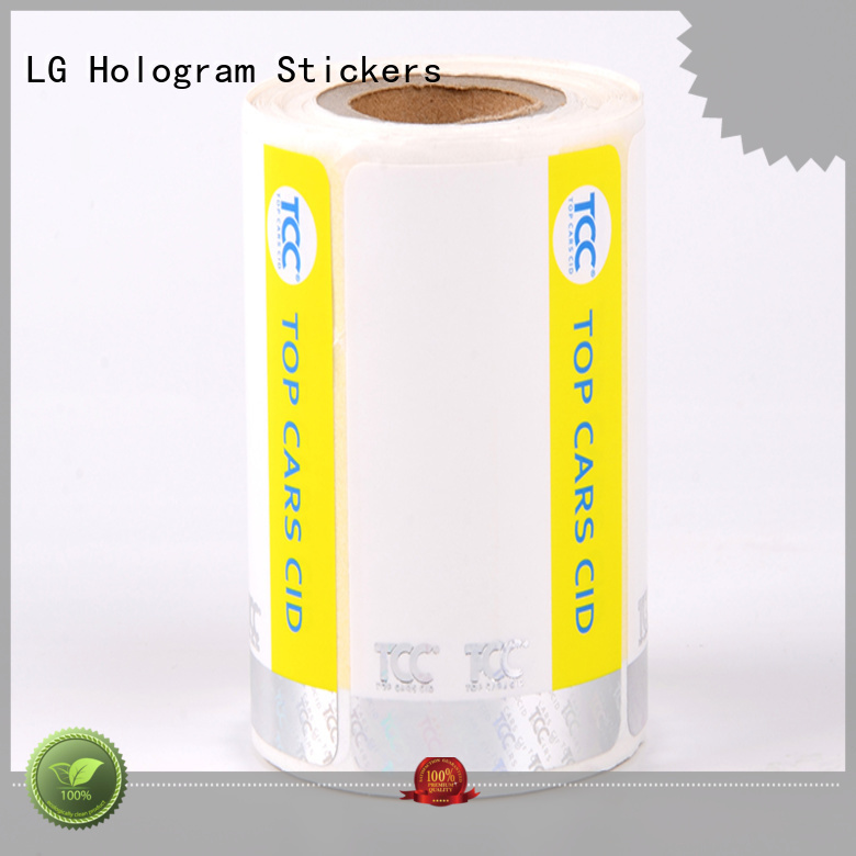 LG Printing serial clear security stickers silver for goods