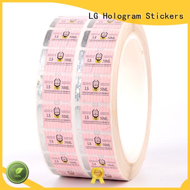LG Printing stamping genuine secure hologram series for goods