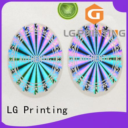 LG Printing Brand security hologram sticker custom shape factory