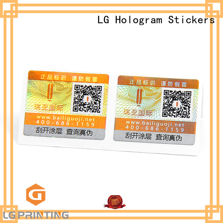 LG Printing pressure sensitive labels Supply for bag