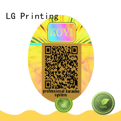 holo sticker one time for table LG Printing