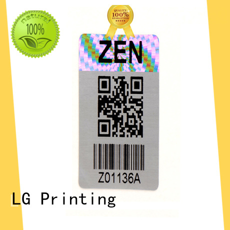 LG Printing scratched hologram printing label for box