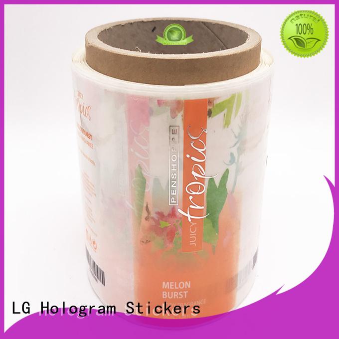 LG Printing quality custom label printing red for jars