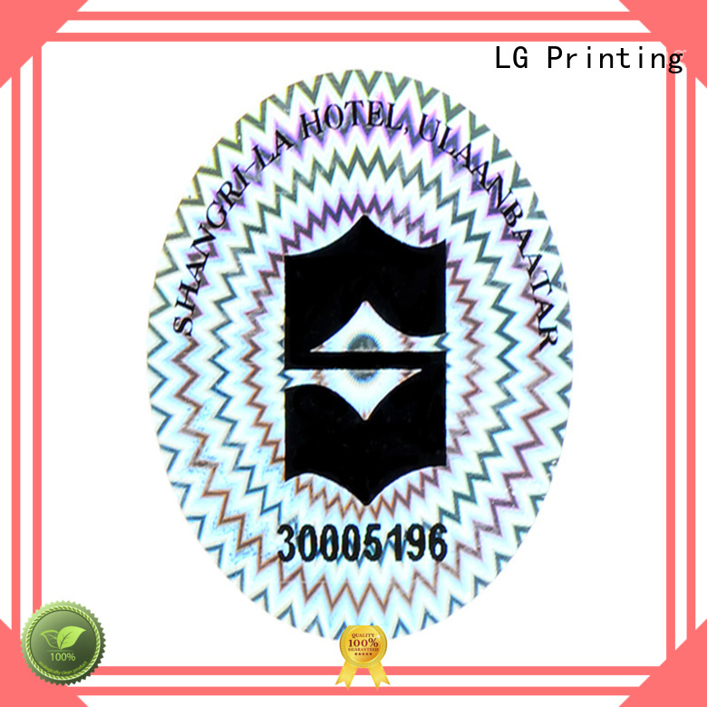 3d holo stickers series for door LG Printing