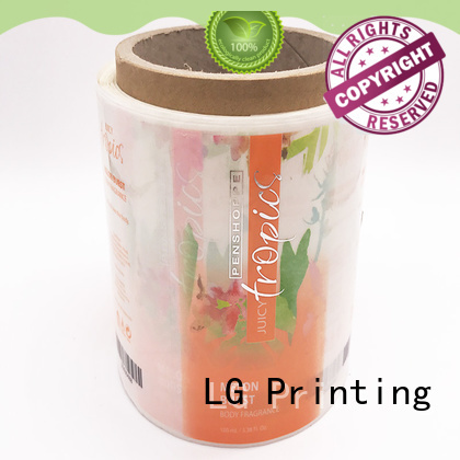 LG Printing red plastic stickers series for bottle