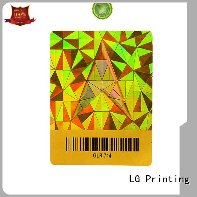 LG Printing various custom sticker hologram supplier for box